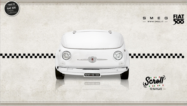 Smeg 500 quand la fiat 500 rencontre smeg s ve d co for Decoration murale fiat 500