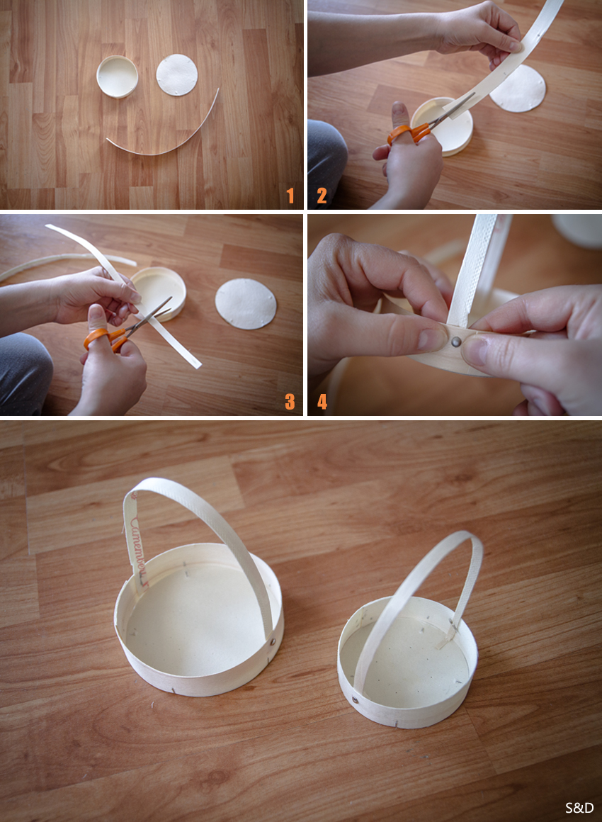 Diy d co de table pour p ques bo te de camembert s ve d co - Deco de table de paques ...